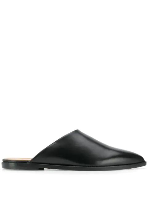 Atp Atelier Pointed Toe Mules - Black