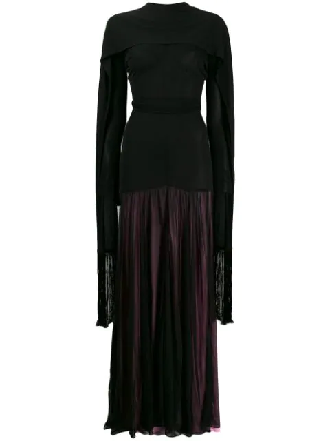 Jw Anderson Ruched Stretch-jersey Maxi Dress In 999 Black
