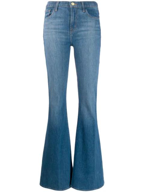 J Brand Jeans Mit Weitem Bein In Blue