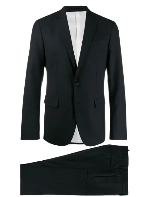Dsquared2 Striped Suit In Black