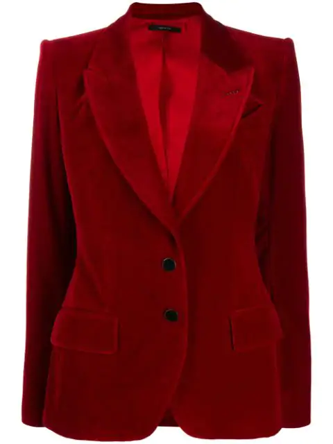 Tom Ford Two Button Blazer In Red