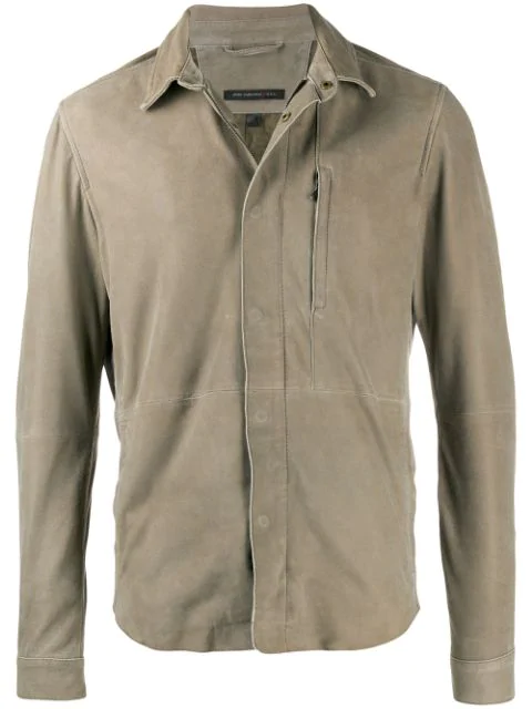 John Varvatos Pointed Collar Jacket In Neutrals