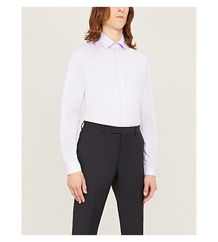 Corneliani Regular-Fit Cotton Shirt In Lilac