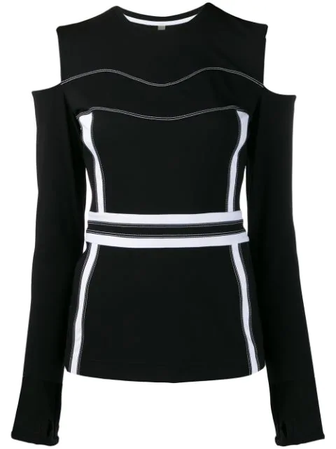 No Ka'oi Cut-out Sports Top In Black