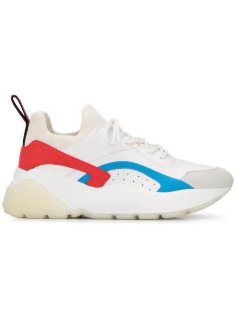 Stella Mccartney White Eclypse Sneakers In Faux Leather