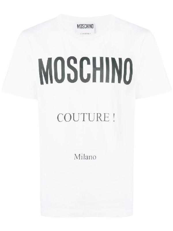 Moschino Men's 070702401001 White Cotton T-Shirt