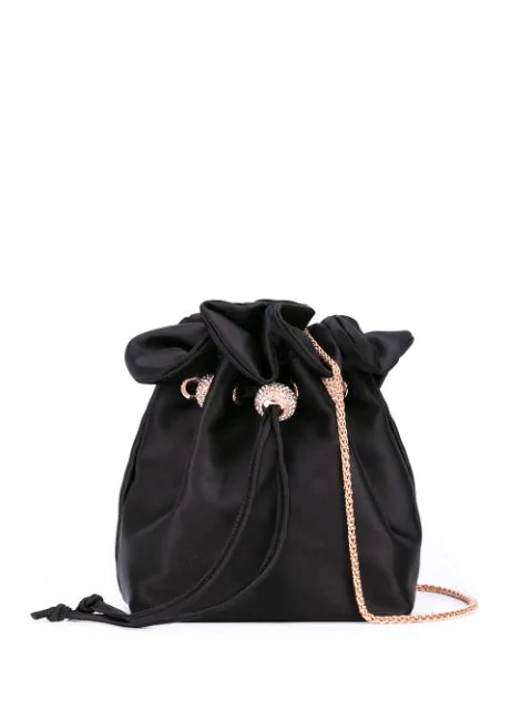 Sophia Webster Drawstring Shoulder Bag In Black