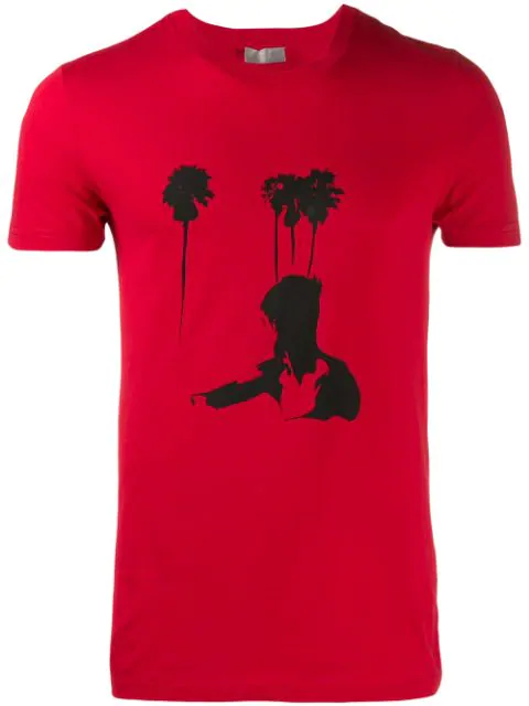 Dior Pre-owned Contrast Logo Printed T-shirt In Red