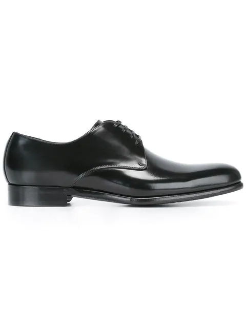 Dolce & Gabbana Black Glossy Leather Lace-up Shoes