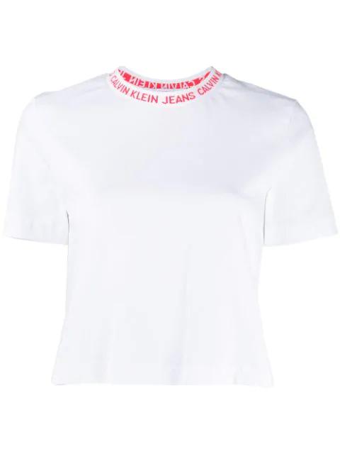 Calvin Klein Jeans Logo T-Shirt In White
