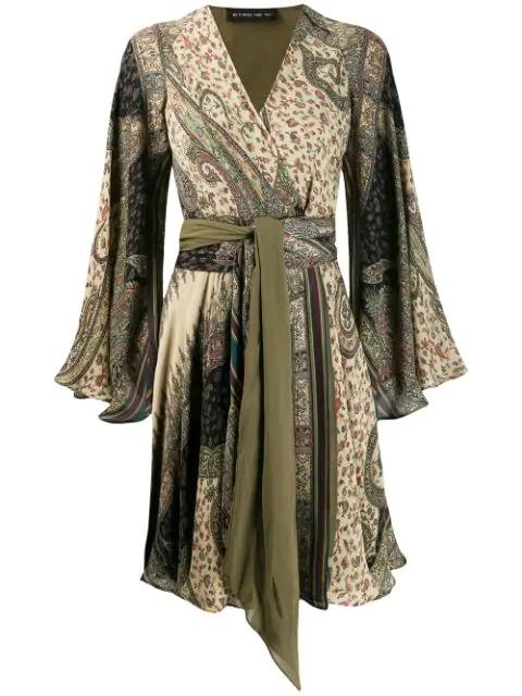 Etro Paisley Printed Kaftan Dress In 800 Beige Multi