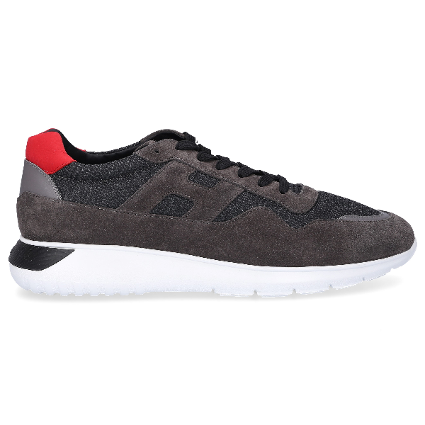 Hogan Low-Top Sneakers Interactive 3 Logo Grey Red White