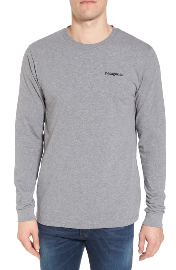 Patagonia Responsibili-Tee Long Sleeve T-Shirt In Gravel Heather