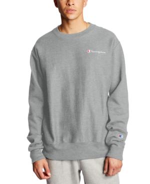 Champion Men's C-life Reverse Weave Logo Sweatshirt In Grey