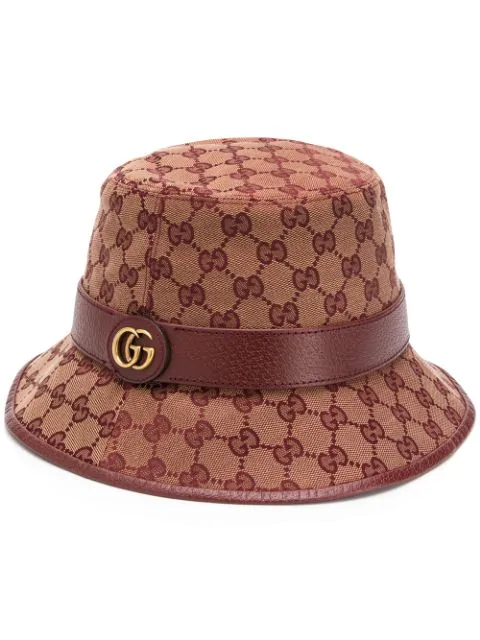 2642ab97 Gg Motif Bucket Hat in Red