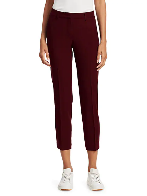 Fabiana Filippi Assisi Wool Pants In Bright Red