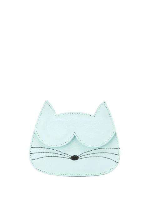 Sarah Chofakian Cat Card-holder In Blue