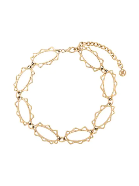 Givenchy Pre-Owned Oval-Shape Link Necklace - Gold