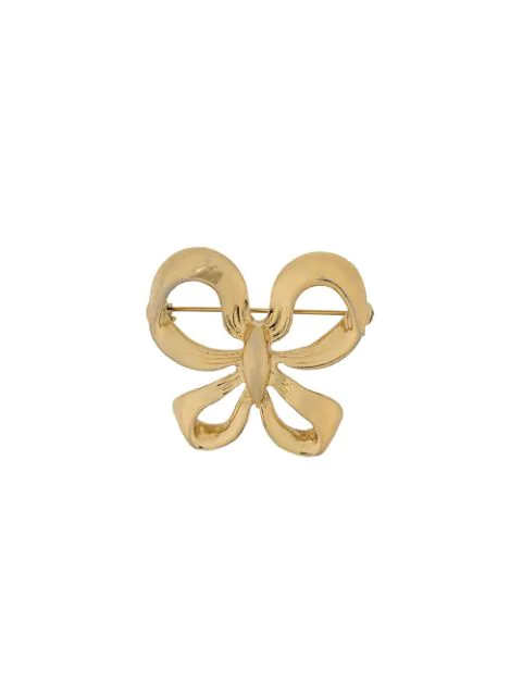 2857acf44c6 Saint Laurent Yves Pre-Owned Bow Brooch - Gold | ModeSens