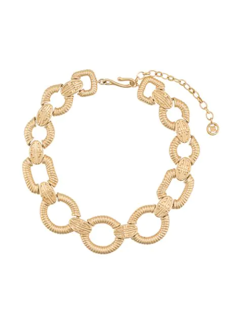 Givenchy Pre-Owned Logo Link Necklace - Gold