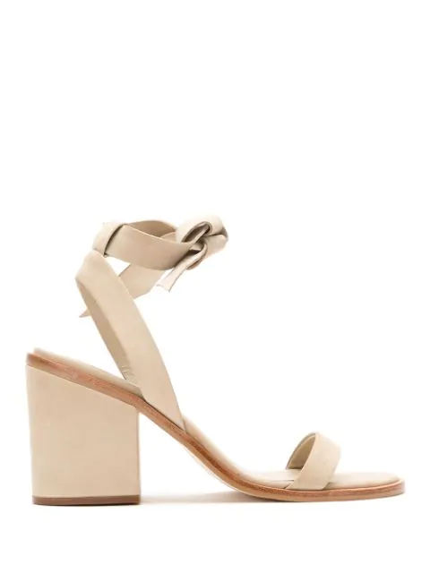 Osklen Leather Sandals With Lace Up Detail In Neutrals