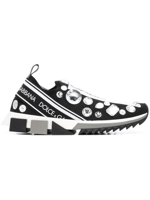 Dolce & Gabbana Sorrento Embellished Sneakers In 8S488