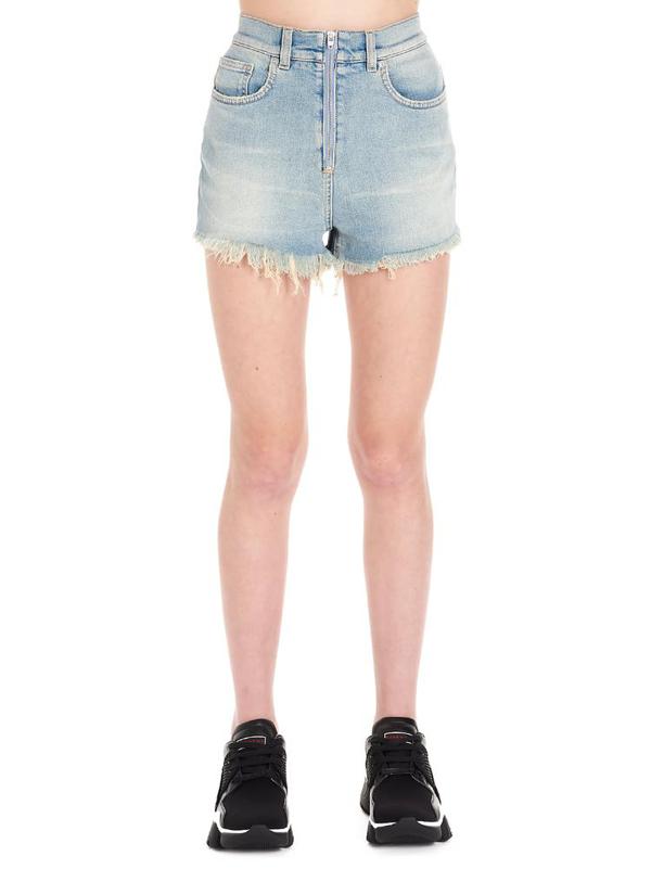Givenchy Women's Bw50e650ag452 Light Blue Cotton Shorts