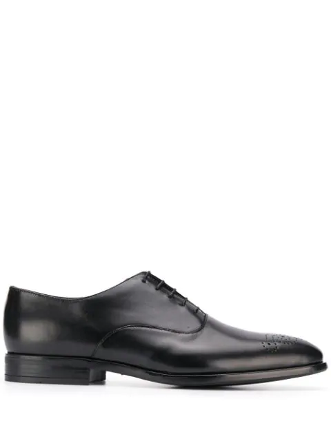 Paul Smith Men's Brogue-Toe Leather Oxfords In 79 Black