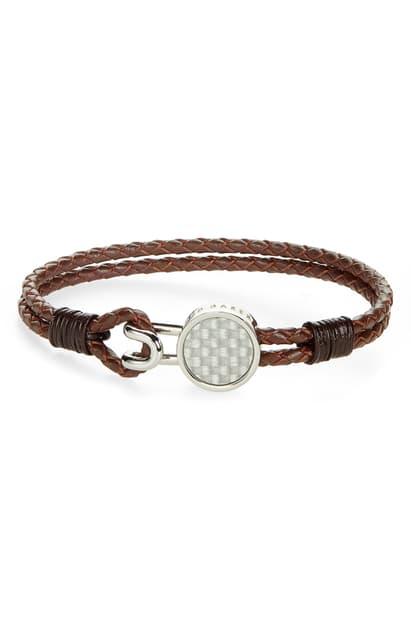 Ted Baker Metta Double-Strand Hook Bracelet In Chocolate
