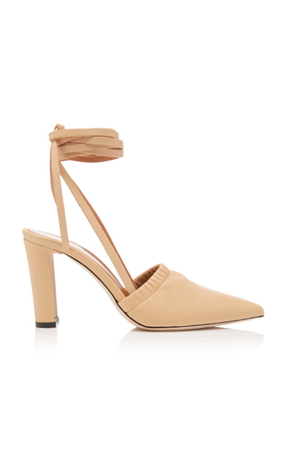 Atp Atelier Maida Leather Sandals In Neutral