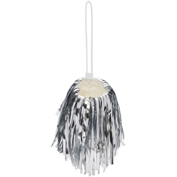 Off-white Plastic Fringes Popon Bag In Silver