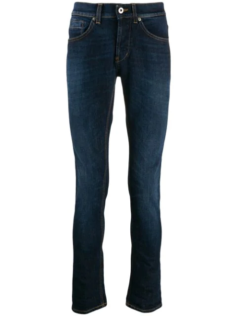 Dondup Skinny Fit Jeans In 800 Navy