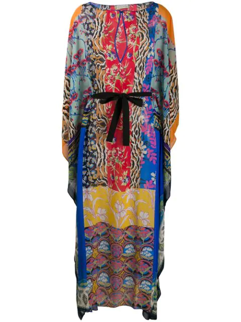 Etro Patchwork Print Kaftan In 200 All Over