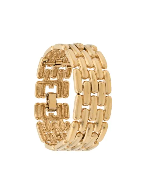 Givenchy Pre-Owned 1980S Watchband Statement Bracelet - Gold