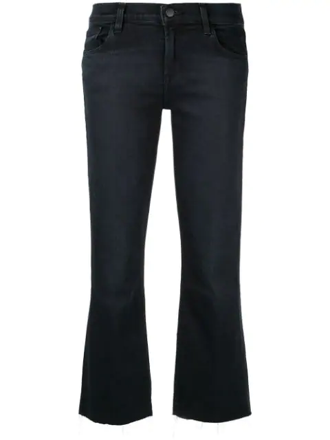 J Brand Selena Mid Rise Crop Bootcut Jeans In Abstract