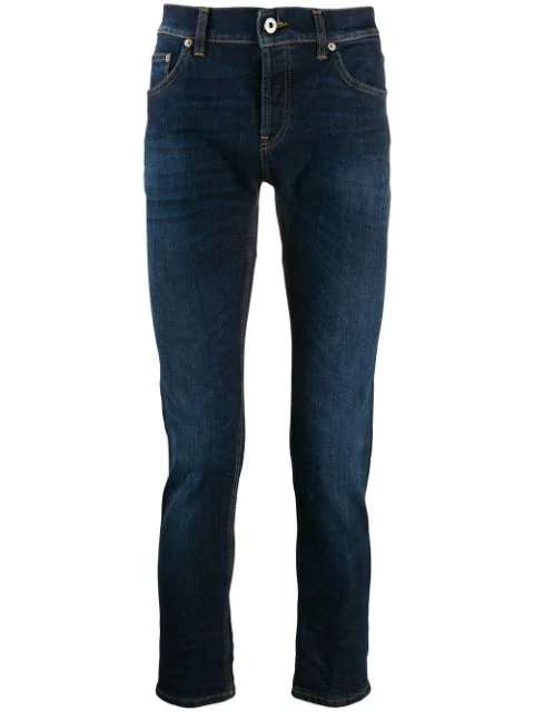 Dondup Skinny Fit Jeans In Blue