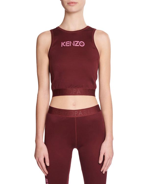 Kenzo Logo Sports Bra In Dark Red