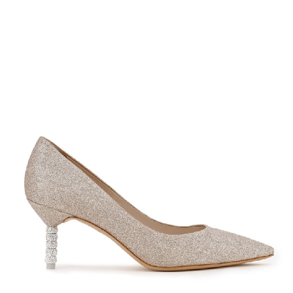 Sophia Webster Women's Coco Glitter Mid-Heel Pumps In Champgne Glitter