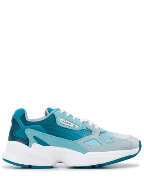 Adidas Originals Falcon W Mesh & Leather Sneakers In Blue
