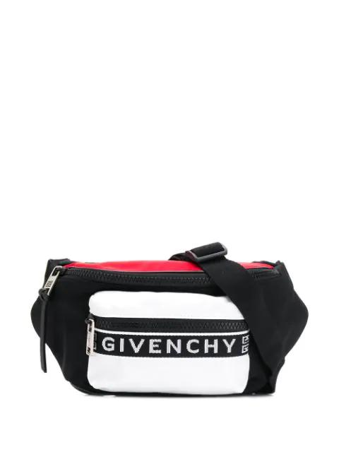 Givenchy Logo Colourblock Belt Bag In 976 Black White