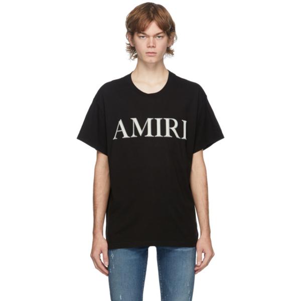 Amiri Bandana Logo-print Cotton T-shirt In Black