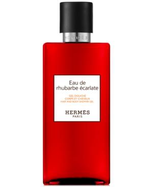 Pre-owned Hermes Eau De Rhubarbe Ecarlate Hair & Body Shower Gel, 10-oz.
