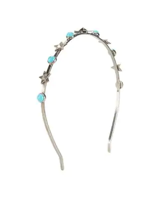 Valentino Garavani Antique Turquoise Crown In Grey Multi