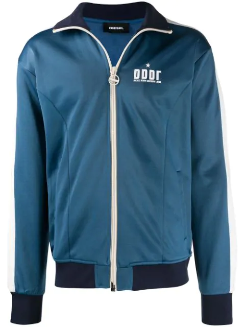 Diesel Zip-up Sweatshirt In Blue