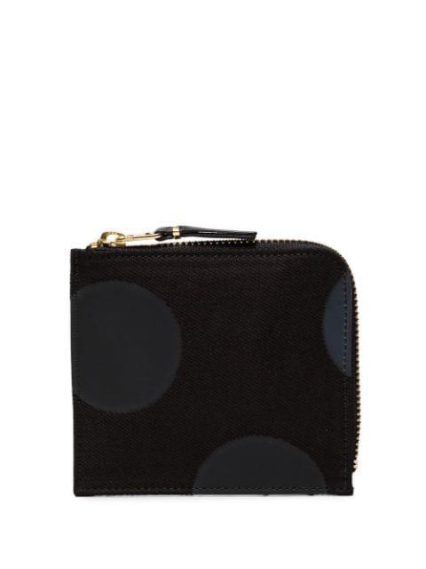 Comme Des GarÇOns Gepunktetes Portemonnaie In Black