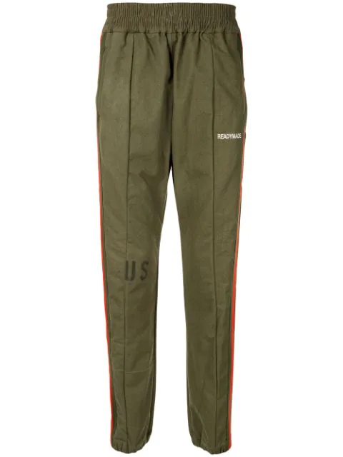 Readymade Side Stripe Track Trousers In Green
