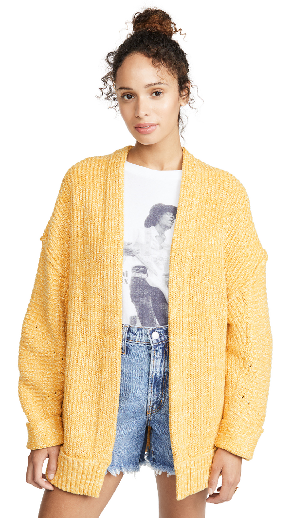 Free People High Hopes Open-Front Cardigan In Marmalade Combo