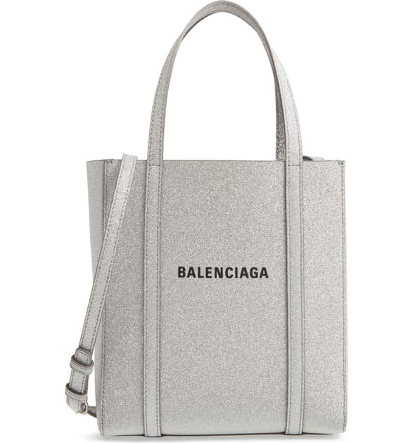 Balenciaga Extra Extra Small Everyday Glitter Leather Tote In 8106  Metallic