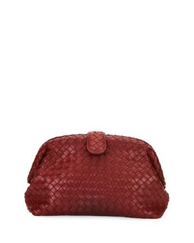 e0ff4a29c7 Bottega Veneta Lauren Metallic Intrecciato Leather Clutch In Dark ...