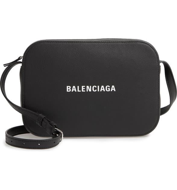 Balenciaga Extra-Small Everyday Leather Camera Bag In Black